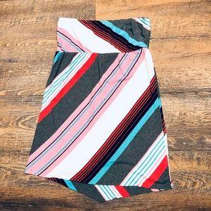 ROXY • Striped Strapless Dress